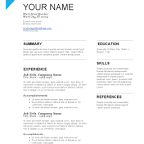 Blue Resume Template Download