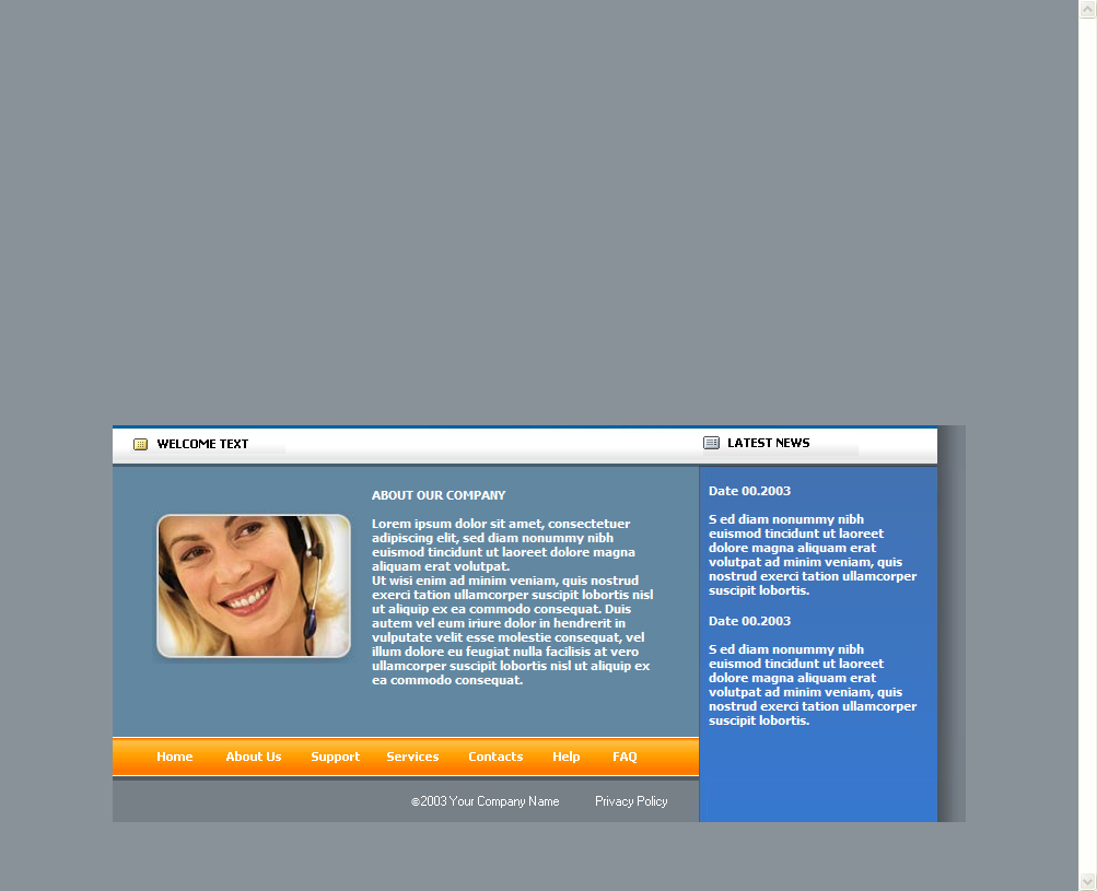 Free Corporate Flash Website Theme Download