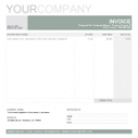 Professional Invoice Template Green Word Format