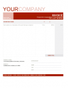 Professional Invoice Template Red Word Format