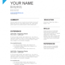 Blue Resume Template Word Format