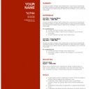 Burgundy Red Resume Template Word Format