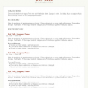 Standard Resume Template Word Format